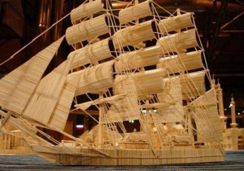 Корабли из спичек