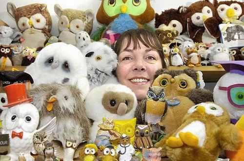 Коллекция игрушечных сов
