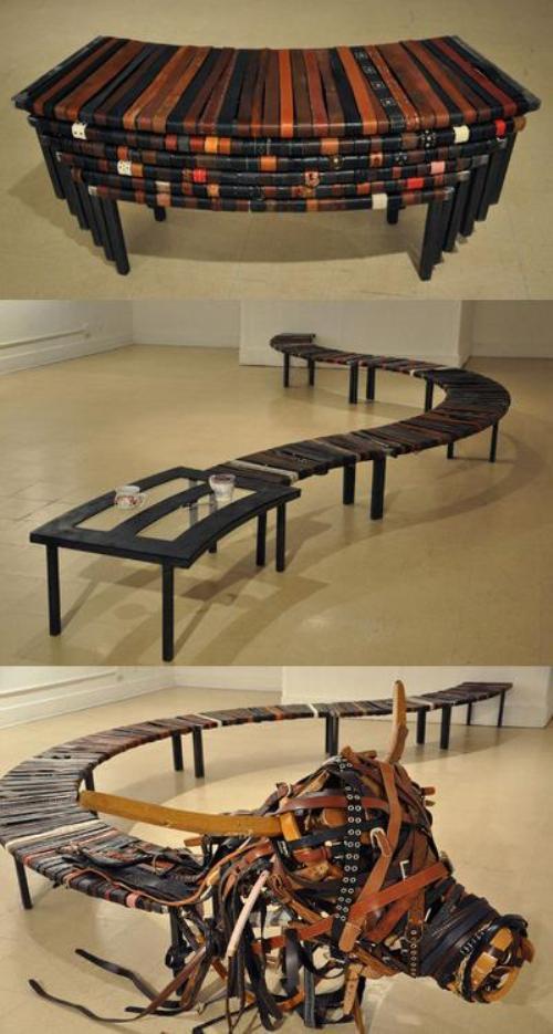 Скамейка 1000 ремней